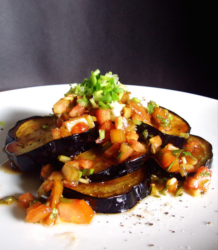 Table Recipes: Deep Fried Eggplant with Tomato Dressing