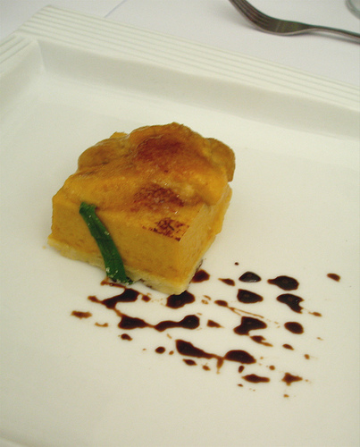 Quiche topped with Sea Urchin Roe from CCA