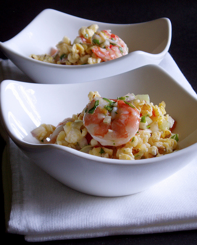Shrimp and Popcorn Salad from Yummy Magazine